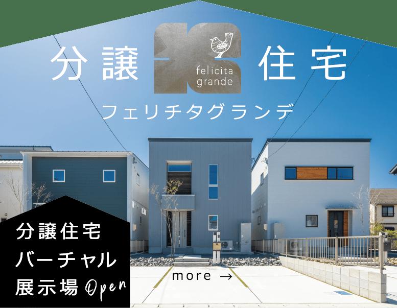 分譲住宅 フェリチタグランデ 分譲住宅バーチャル展示場open more