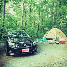 キャンプが好きです。愛車でキャンプに行きます。